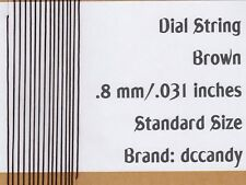 24 Feet Radio Dial Cord BRAIDED Nylon String .8mm BROWN for Vintage Tuner (.031)