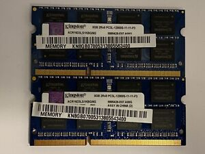 Kingston 16GB (8GB x2) PC3L-12800S 1600MHz DDR3 SODIMM Laptop Memory