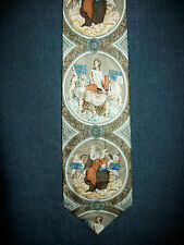 Michelangelo Sistine Chapel Art Tie Vatican Rome Silk Muted Multi-colors
