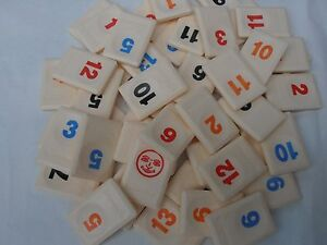 Rummikub game spare number tile - choose colour/number