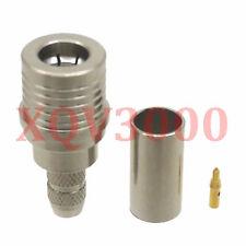Connector QMA male plug pin crimp for RG58 RG142 LMR195 RG400 RF COAXIAL