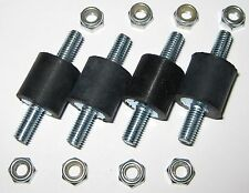 4 Isolation Rubber Mounts with M5-.8 x 12mm Hardware - Shock Mount - 40mm Long