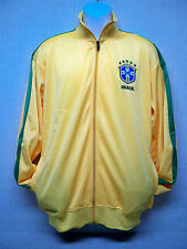 BRASIL Design - Men's Track Top Jacket by RJG Sports - Yellow - Size XL