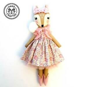 Heirloom Hand Made Fabric Doll Fawn Rose