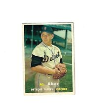 1957 Topps Baseball #141 AL ABER NM DETROIT TIGERS NO CREASE COMBINE SHIP