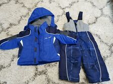 12 Mo Baby Boys Toddler Snow Suit Winter Coat Bibs Pants Outerwear