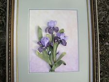 Silk ribbon embroidery 'Iris'