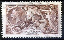 GB KG V 1934 2/6d Red-Brown Seahorses Background Type B SG 450 (Spec.N73[2]) VFU