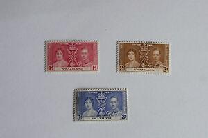 GEORGE VI 1937 CORONATION SWAZILAND  UN MOUNTED MINT