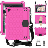 Kids Case EVA Foam Rugged Shoulder Strap Back Cover For iPad 8th Gen (10.2 2020)