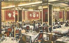 1940s Hotel Muehlebach Terrace Grill Teich linen postcard 7733