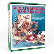 Vintage Wreath Making Basics Book & Kit (Wreath Bases, Moss, .) New Old Stock