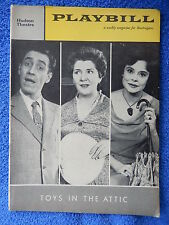 Toys In The Attic - Hudson Theatre Playbill - May 1960 - Jason Robards