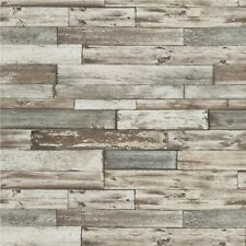 Wood Weathered Effect Wallpaper Wooden Panel Board Faux Life Like Grey Erismann
