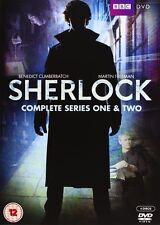 Sherlock Complete Series 1 and 2 [DVD] Benedict Cumberbatch, Martin Freeman NEW