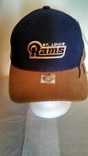 Trucker Hat/Baseball Cap St. Louis Rams Blue w/ Brown Brim New!