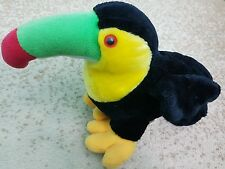 Special Effects Toucan Parrot Bird Stuffed Toy 9 in Black/Yellow