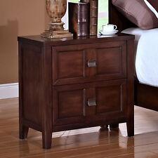 Ridgecrest Bedroom Nightstand Night Stand Scoop Drawer Handles Distressed Walnut