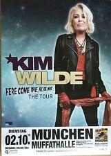 KIM WILDE  2018 MÜNCHEN - orig.Concert Poster - Plakat  A1 NEU
