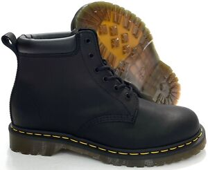 Dr Martens 939 Ben Boot Black Leather Boots Greasy Smooth Men's 10