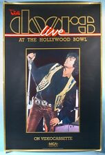 1987 The Doors Live at the Hollywood Bowl Videocasette Store Poster Jim Morrison