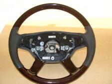 1 Mercedes S klasse W221 W216 CL Holzlenkrad Holz Lenkrad steering wheel GRAU