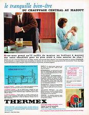 PUBLICITE ADVERTISING  1965   THERMEX  chauffage central au mazout