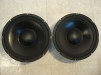"""NEW (2) 10"""" Woofers Replacement Guitar Speakers.4 ohm.ten inch bass pair.PA.DJ"""