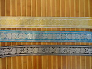 """By Yard Jacquard Trim 2"""" wide Woven Border Braided Embroidered Sew Ribbon T274"""