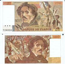 Gertbrolen 100 FRANCS EUGENE  DELACROIX de 1984   E.75 Billet N° 1854726020