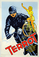 """Terrot Motorcycles - 24""""x36"""" Canvas Motorcycle Poster on Canvas"""