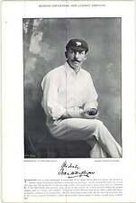 1895 Cricket TOWNSEND, C L, Gloucestershire : MILLIGAN, F W, Yorks