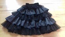 Black Multi-layer Tulle Skirt Elasticated Waist EU 38  (UK 10 )