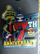 Hard Rock Cafe Changi Airport Singapore Pin 7th Anniversary Pin