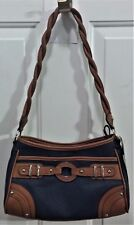 NWT Rosetti's Small Hobo Purse-Pacific Navy & Brown Trailblazer, Twisted Handle