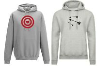 Couple Matching Hoodie Archery Arrows Hood Funny Target Heart Valentine's Gift
