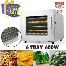 6 Tray Food Dehydrator Electric Fruit Preserver Beef Jerky Drying Machine Dryer