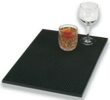 """Black Rubber Bar Mat Service Mat Drip Mat 12"""" x 18""""  / 30 x 46cm"""