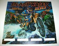Blackwater 100 Pinball TRANSLITE Bally Original NOS Game Motorcycles Art Sheet