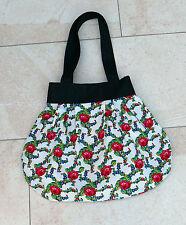 Schultertasche Shopping Tasche Handtasche Beuteltasche Rosen Top Zustand