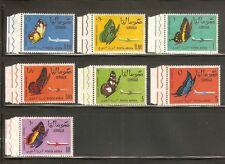 SOMALIA 1961 Airmail Butterflies C75-C81 Stamps Set MNH