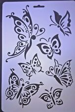 A4 Butterfly Butterflies Wall Stencil Reusable Template Home Decor Scrapbooking