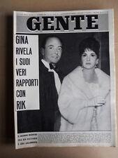 GENTE n°45 1963 Christian Marquand Liz Taylor Luigi Dansi Brigitte Bardot [D49]
