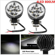 2pcs 12W 4LED Work Light Spot Round Truck Lamp ATV Boat 4x4 Offroad SUV DRL Lamp