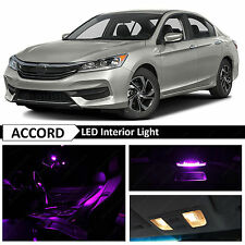 Purple Interior + License Plate LED Light Package Kit For 2013-2018 Honda Accord