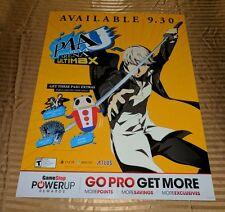 Large P4AU Persona4 Arena Ultimax Promo Display Poster