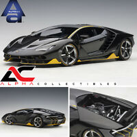 AUTOART 79114 1:18 LAMBORGHINI CENTENARIO (CLEAR CARBON YELLOW ACCENTS)