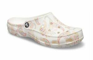 NEW Womens Crocs Freesail Florals Clogs Shoes, size 9