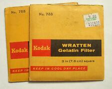 Kodak wratten GELATINA Filtro NO 78b 7.6cm OR 75mm Cuadrado
