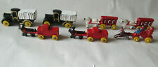 """7 Horse Drawn Ice Wagon's Fire Engine Cast Iron, Metal Container Trucks 2"""" Scale"""